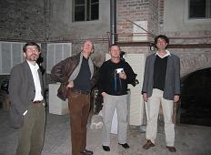 V.l.n.r. Amiran Djanashvili, Peter Hoogerwerf, Dick Aerts en Sebastiaan d'Hont