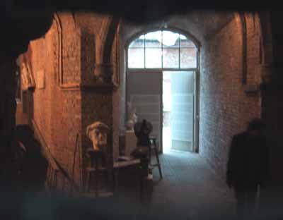 De mysterieuze opgang naar het atelier