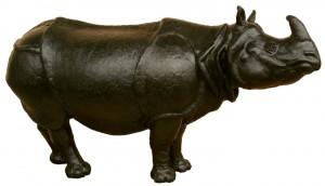 exclusief voor Atelier Manenburg wordt een dierenlijn opgezet, waarvan het eerste ontwerp de Índische Neushoorn'is